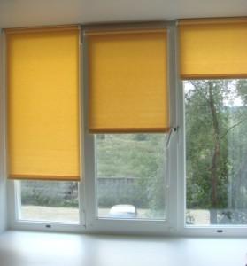 Окно с рулонными шторами