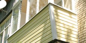 Остекление балкона, алюминий, сайдинг, вынос