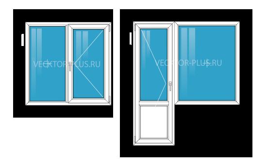 Окна в однокомнатной квартире