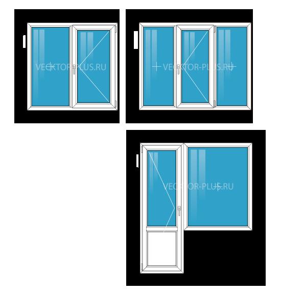 Окна в двухкомнатной квартире