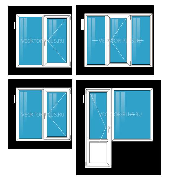 Окна в трехкомнатной квартире
