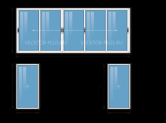 Балкон 4 метра (материал: алюминий)